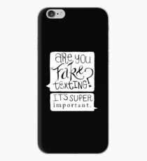 Are You Fake Texting? iPhone Case