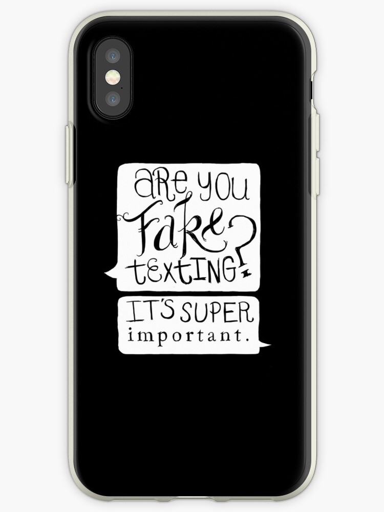 'Are You Fake Texting?' iPhone Case by six-fiftyeight