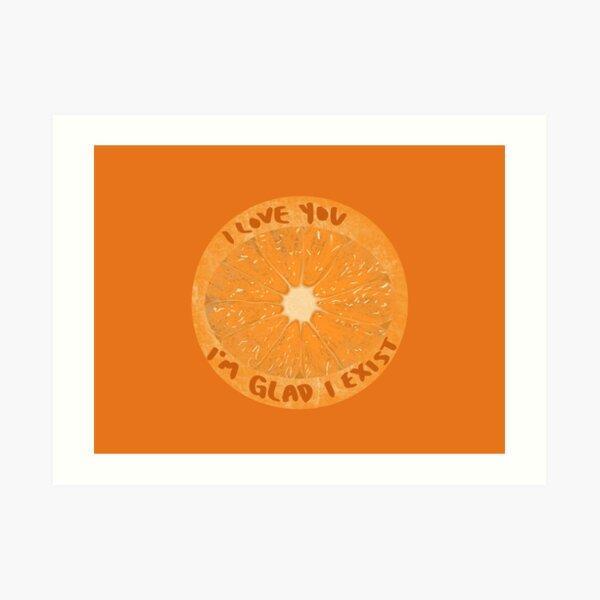 The Orange Wendy Cope Art Print