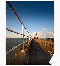 Whitby Pier - evening Poster