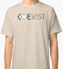 coexist with guns Classic T-Shirt