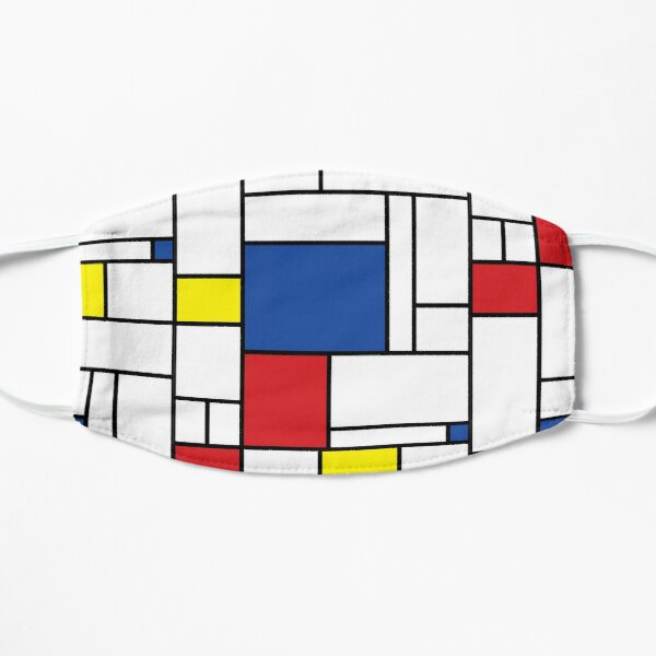 Mondrian Minimalist De Stijl Modern Art II © fatfatin Mask