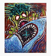 Zombie Shark Fight Photographic Print