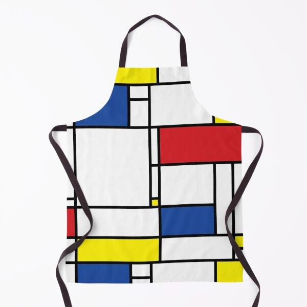 Mondrian Minimalist De Stijl Modern Art © fatfatin Apron