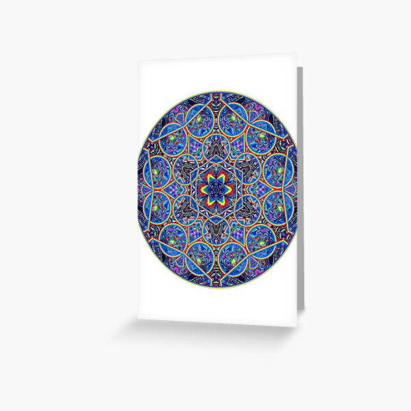 Infinite Refraction Greeting Card
