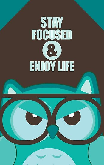 "Life Quotes Posters Amusing Stay Focused & Enjoy Life  Inspirational Quotes"" Posters."