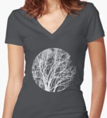 Nature into Me Women's Fitted V-Neck T-Shirt