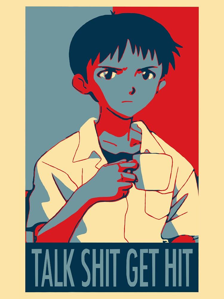 Shinji Ikari - Talk Shit Get Hit | Unisex T-Shirt