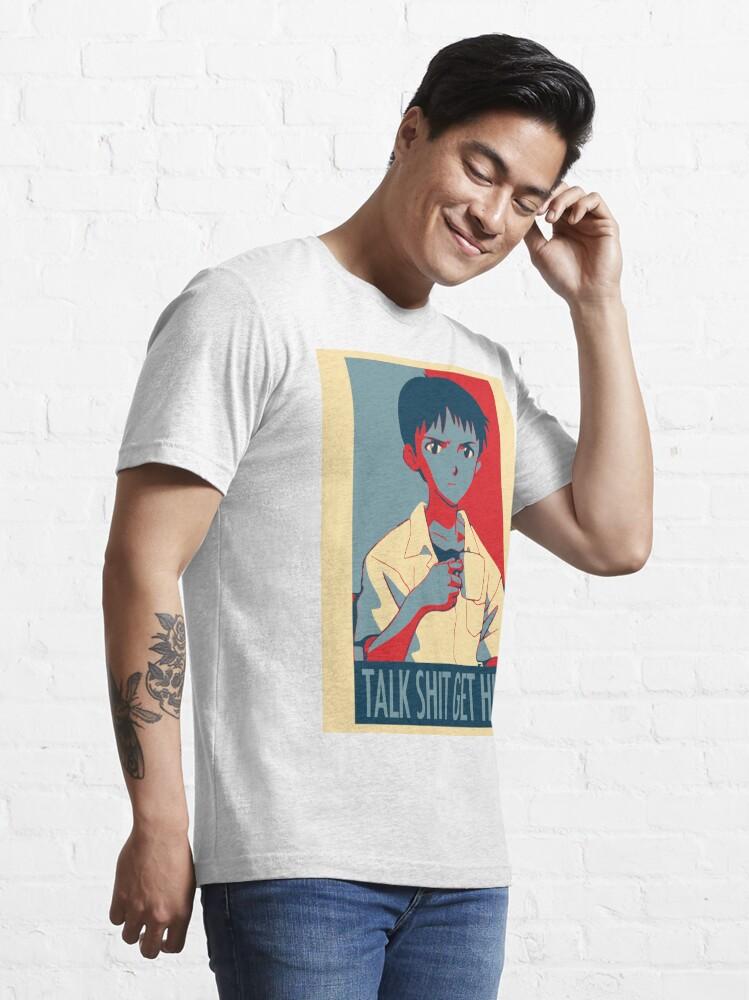 Alternate view of Shinji Ikari - Talk Shit Get Hit Essential T-Shirt
