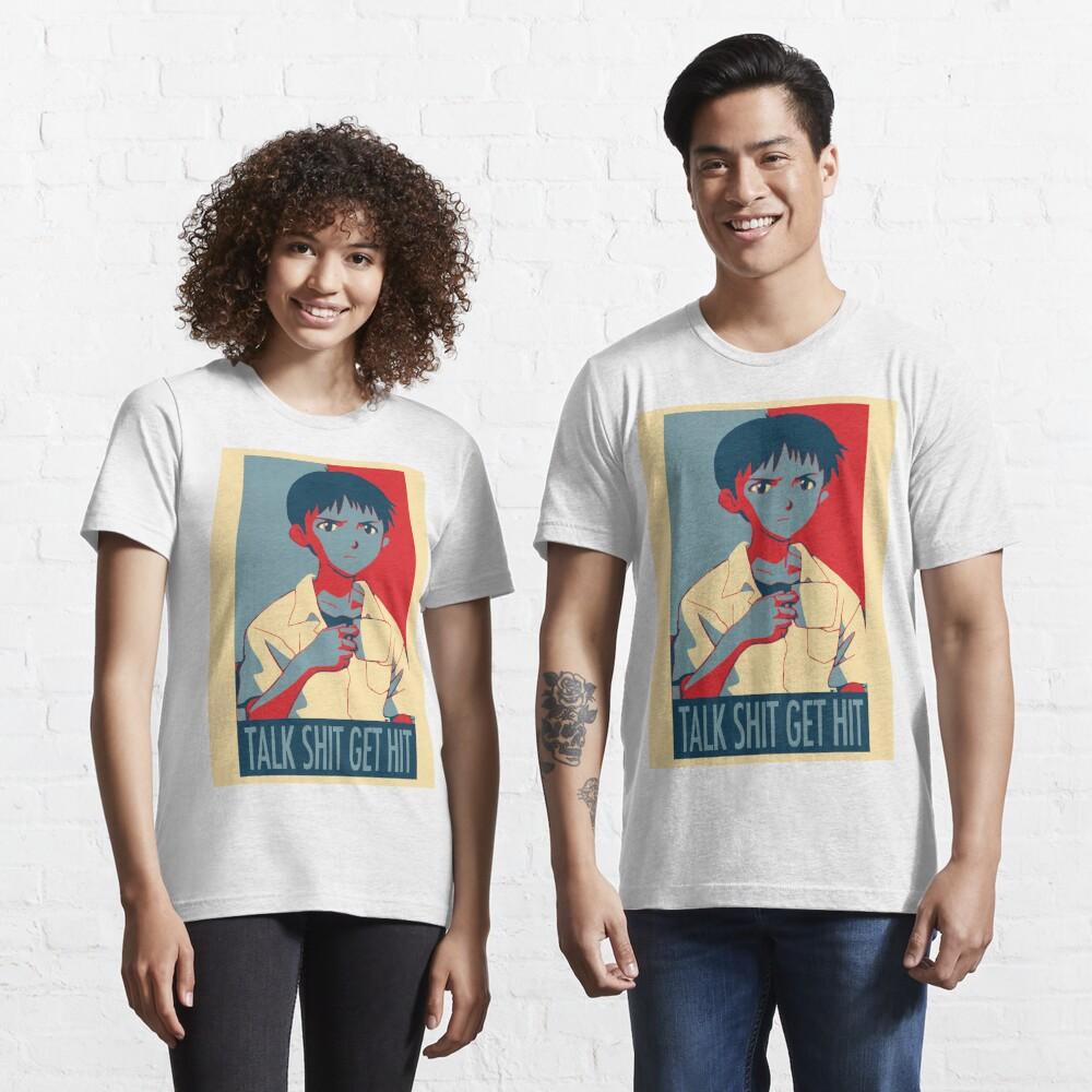 Shinji Ikari - Talk Shit Get Hit Essential T-Shirt