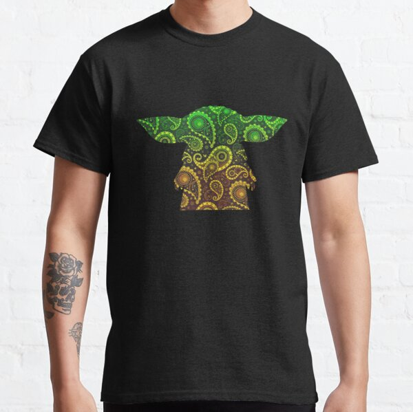 Teardrop Mandala Silhouette - Alien Forest - Dark Background Classic T-Shirt