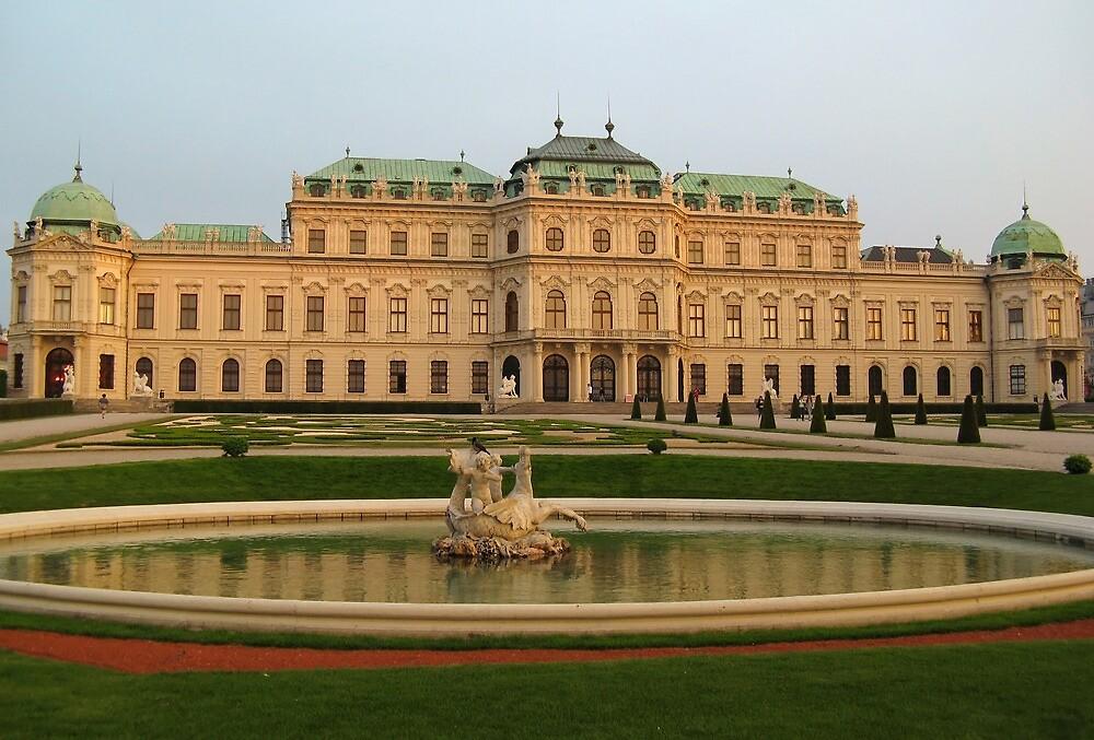 Belvedere Palace in Vienna by kirilart
