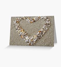 Heart arranged from Seashells Greeting Card