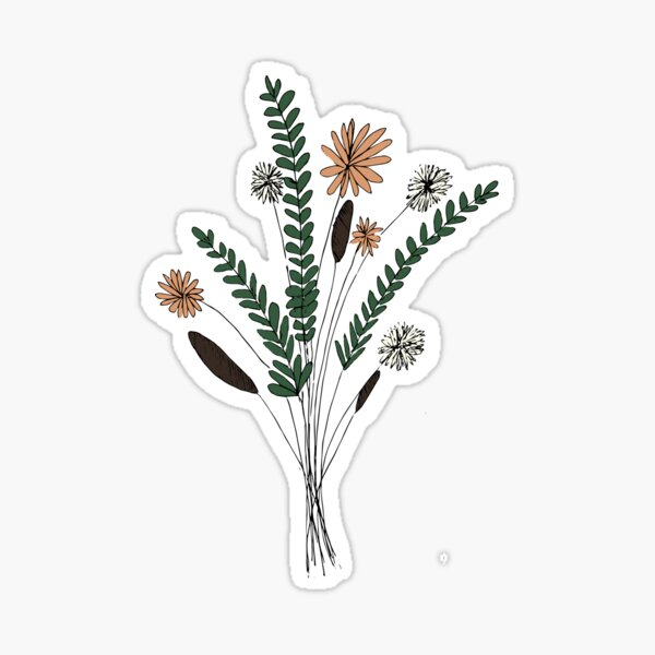 Blumenillustration Sticker