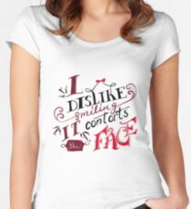 I Dislike Smiling Fitted Scoop T-Shirt