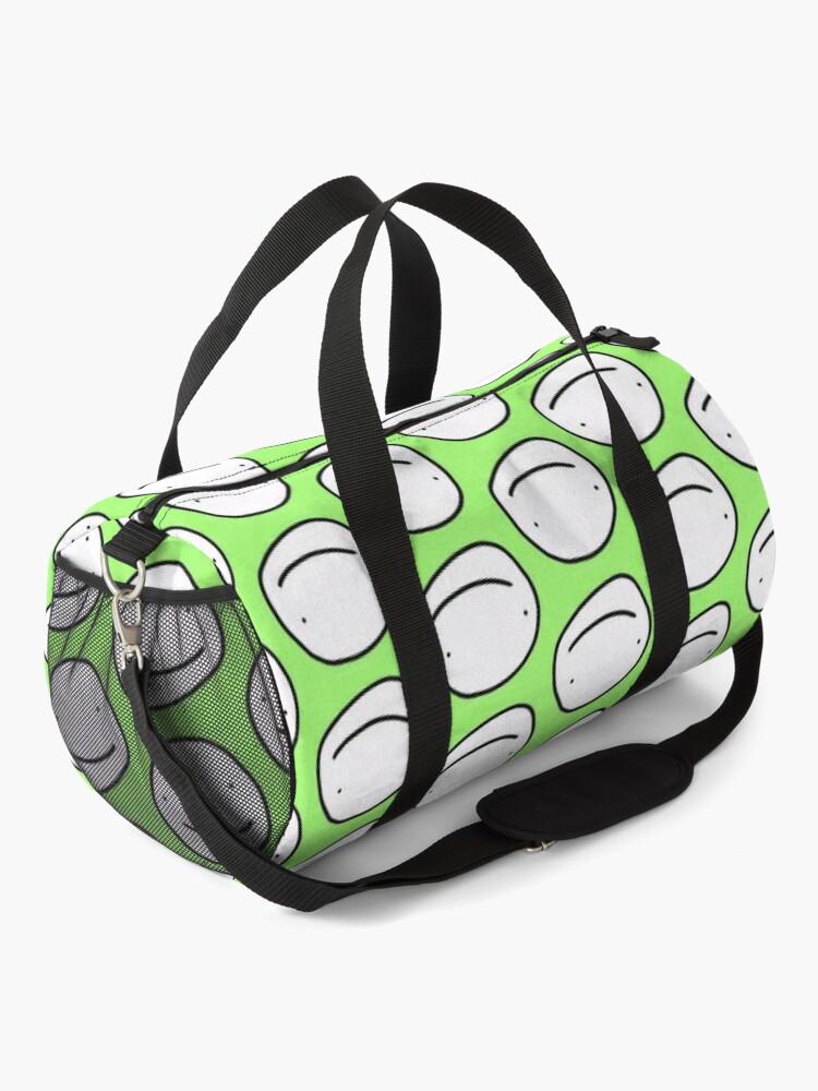 Alternate view of Green Dream face Duffle Bag