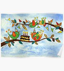 Happy Birdy Birthday Poster