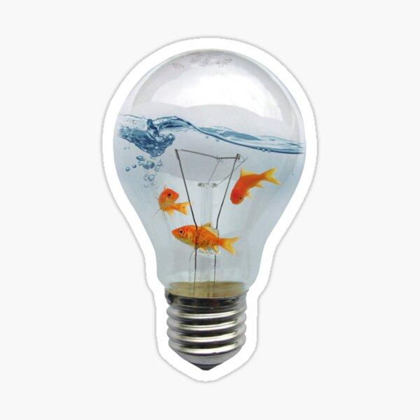 ideas and goldfish Sticker
