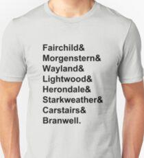 Shadowhunter Names Slim Fit T-Shirt