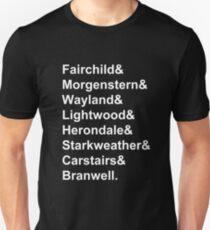 Shadowhunter Surnames Slim Fit T-Shirt