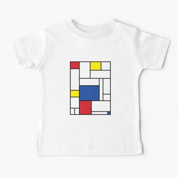 Mondrian Minimalist De Stijl Modern Art II © fatfatin Baby T-Shirt