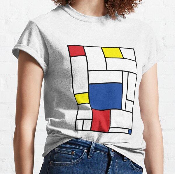 Mondrian Minimalist De Stijl Modern Art II © fatfatin Classic T-Shirt