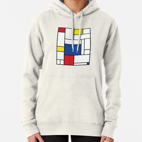 Mondrian Minimalist De Stijl Modern Art II © fatfatin Pullover Hoodie