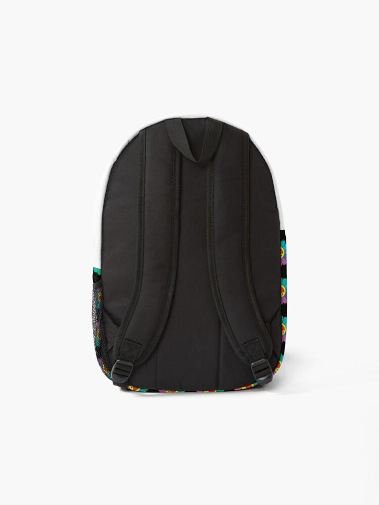 Alternate view of takashi murakami Flower - rainbow flower - pattern Backpack