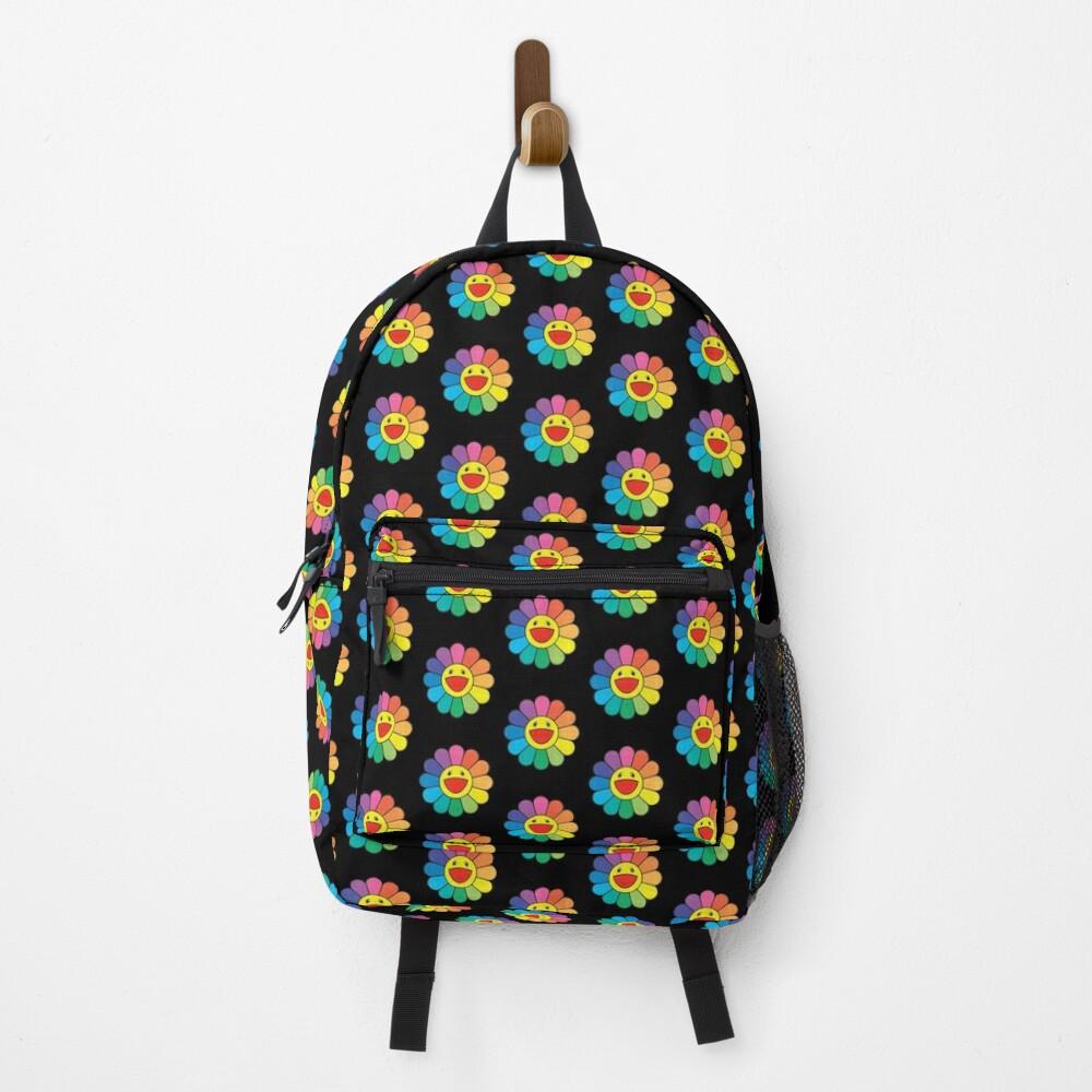 takashi murakami Flower - rainbow flower - pattern Backpack