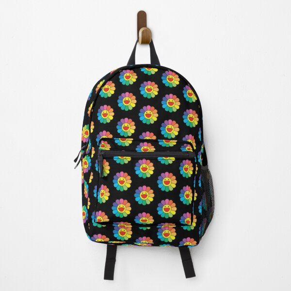 takashi murakami Flower - rainbow flower - pattern Backpack