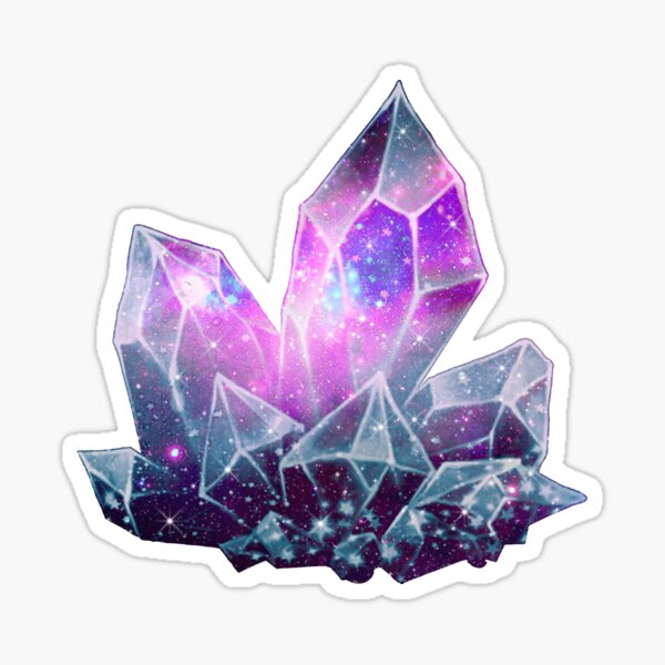 Midnight Glow Galaxy Crystals Sticker