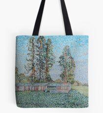 Neo-impressionist pig shed Tote Bag