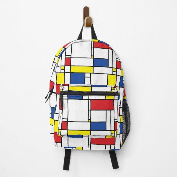 Mondrian Minimalist De Stijl Modern Art I.I © fatfatin Backpack