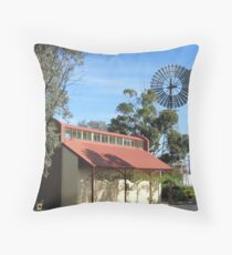 The Old Railway Station & Windmill, 'Kaniva' Vic. Aus. Throw Pillow