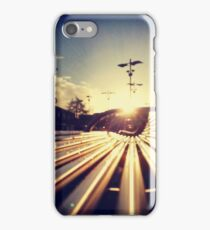 Good Morning Sunderland - Sunrise through a Bench iPhone Case/Skin