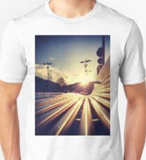 Good Morning Sunderland - Sunrise through a Bench Unisex T-Shirt