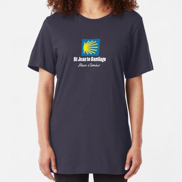 St Jean to Santiago Slim Fit T-Shirt
