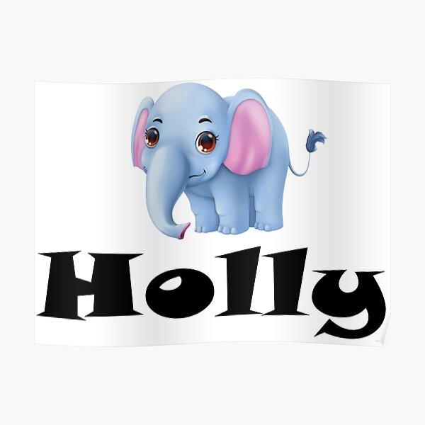 Holly Elephant  Poster