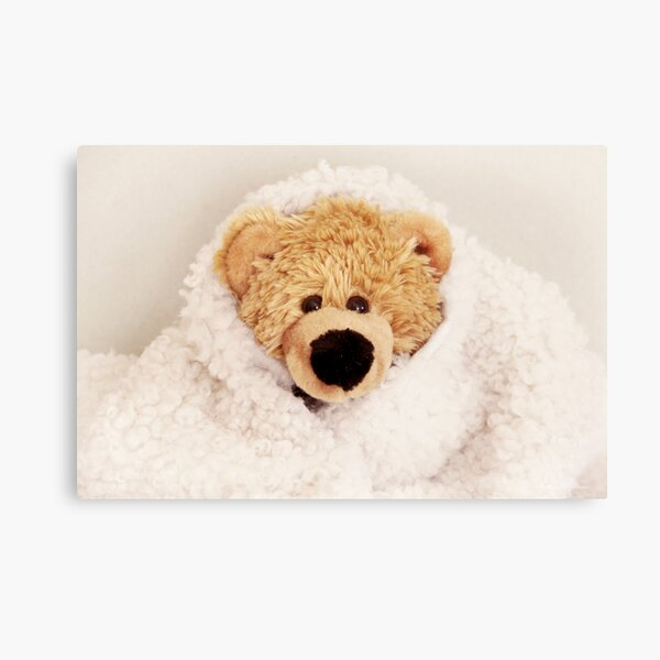 Teddy want to be a lamb Canvas Print