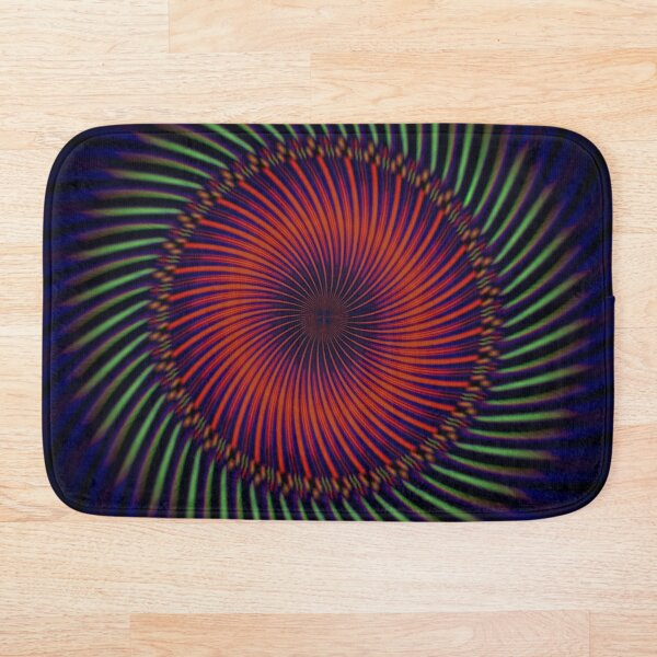 Trippy Colorful Spiral Bath Mat