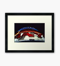 Neon Lights – Leicester Square, London, 1980s Framed Print