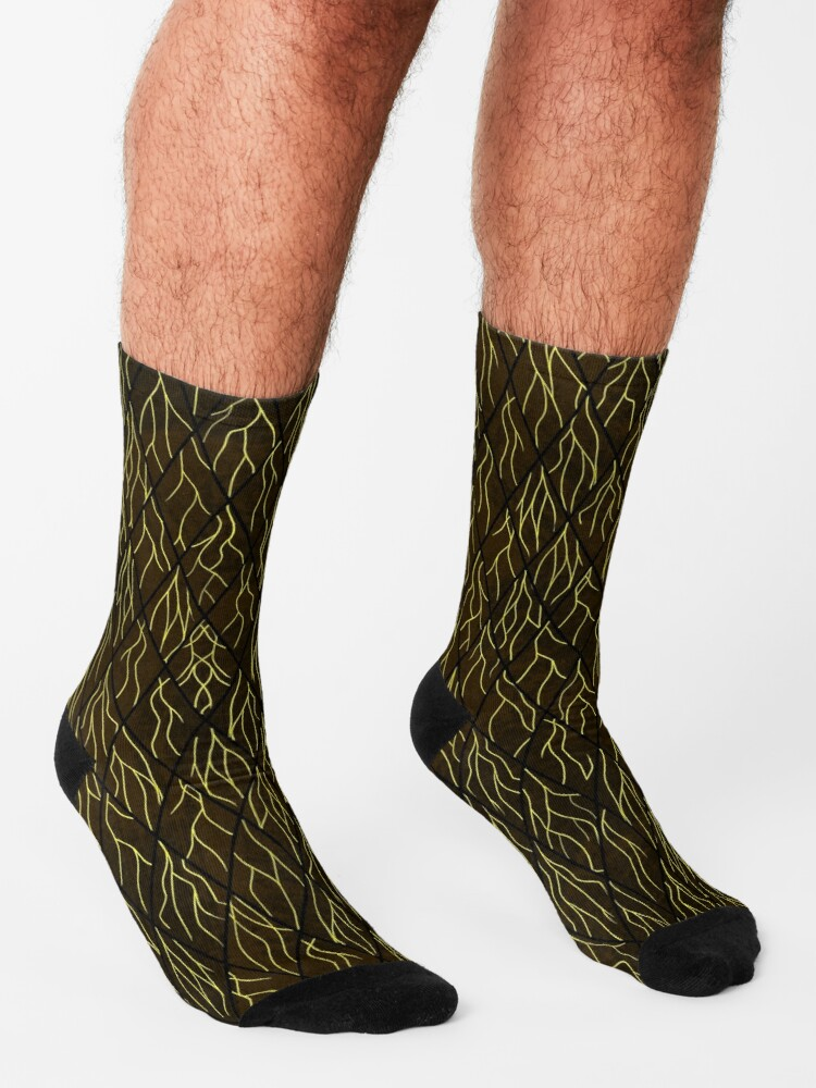 Alternate view of Earthen Scales, Golden Streams Socks