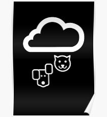 Forecast Cats & Dogs Pictogram  Poster
