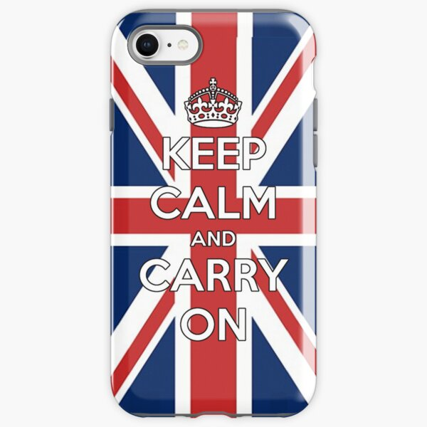 Rikki Knight Keep Calm /& Carry on British Flag Single Outlet Plate