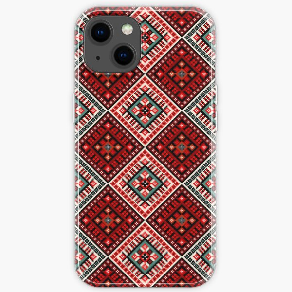 Romanian embroidery floral iPhone Soft Case