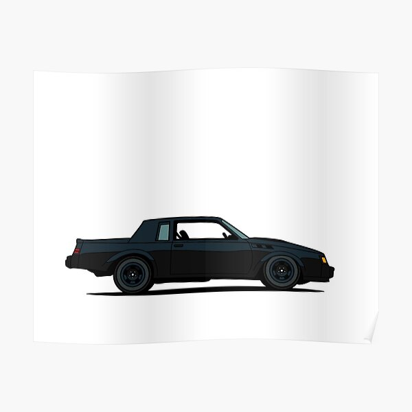 1987 Buick Grand National Regal GNX Poster