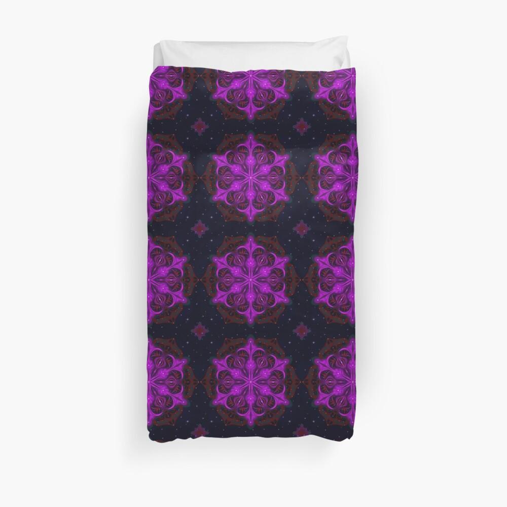 Spaceborne Orchid Snowflake Duvet Cover
