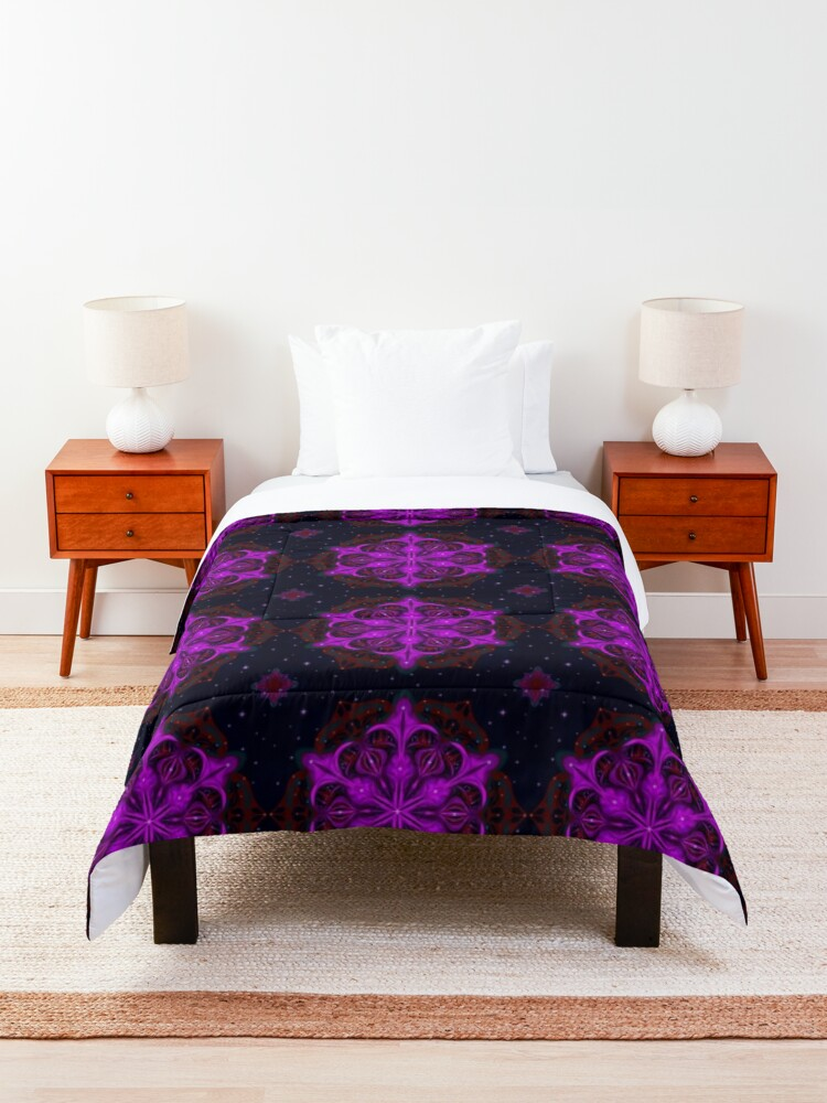 Alternate view of Spaceborne Orchid Snowflake Comforter