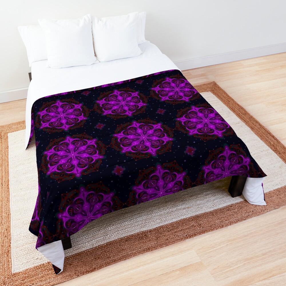 Spaceborne Orchid Snowflake Comforter