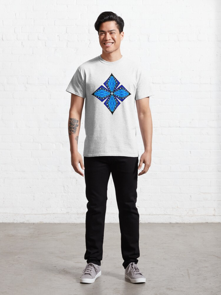 Alternate view of Onyx Beams of Flowers and Gems Classic T-Shirt